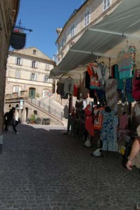 market stall by church