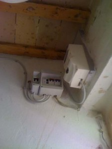 The Offending Electricity Box, High above my Head!