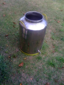 Empty 50 Litre Oil Can...most exciting picture I've posted.