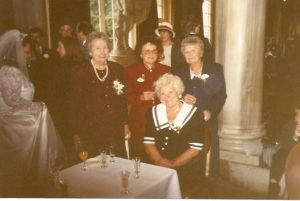 My mum (front) and her three sisters, Florence, Pip, and Vera (from the left). Sadly they've all left us now.