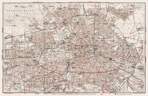 My Map of Berlin in 1913, had to print it out in 9 sections and stick together. You of course can only see this tiny version