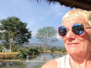 The sun shining on me in Thailand...